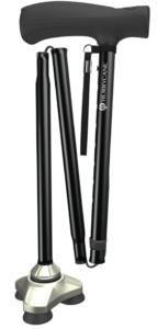 Best Walking Canes for Seniors - HurryCane Freedom Edition Folding Cane with T Handle