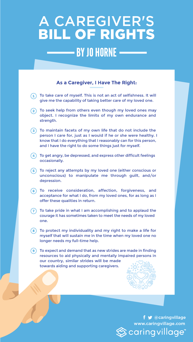 how the bill of rights affects my life A caregiver's bill of rights to protect my individuality and my right to make a life for myself that will sustain me in the time when my relative no.