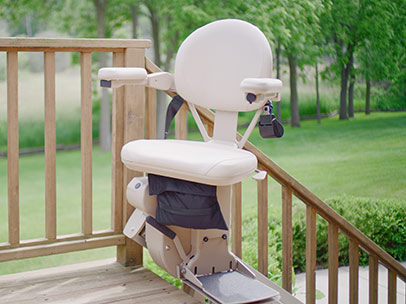 The Elite Outdoor Straight Stairlift by Bruno