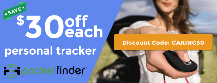 PocketFinder GPS Tracker for Aging Adults $30 off
