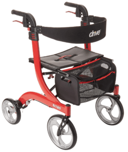 Best Walkers for Older Adults - Drive Medical Nitro Euro Style Red Rollator Walker