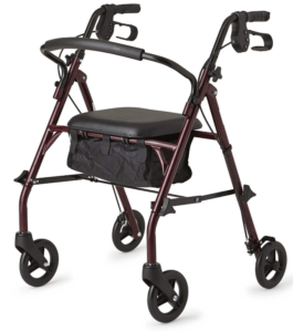 Best Walkers for Older Adults - Healthcare Direct 100RA Steel Rollator Walker with 350 lb. Weight Capacity