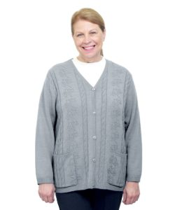 Womens Adaptive Open Back Cardigan
